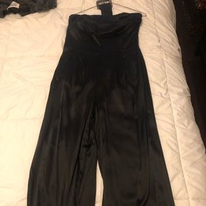 One piece silk pants outfit